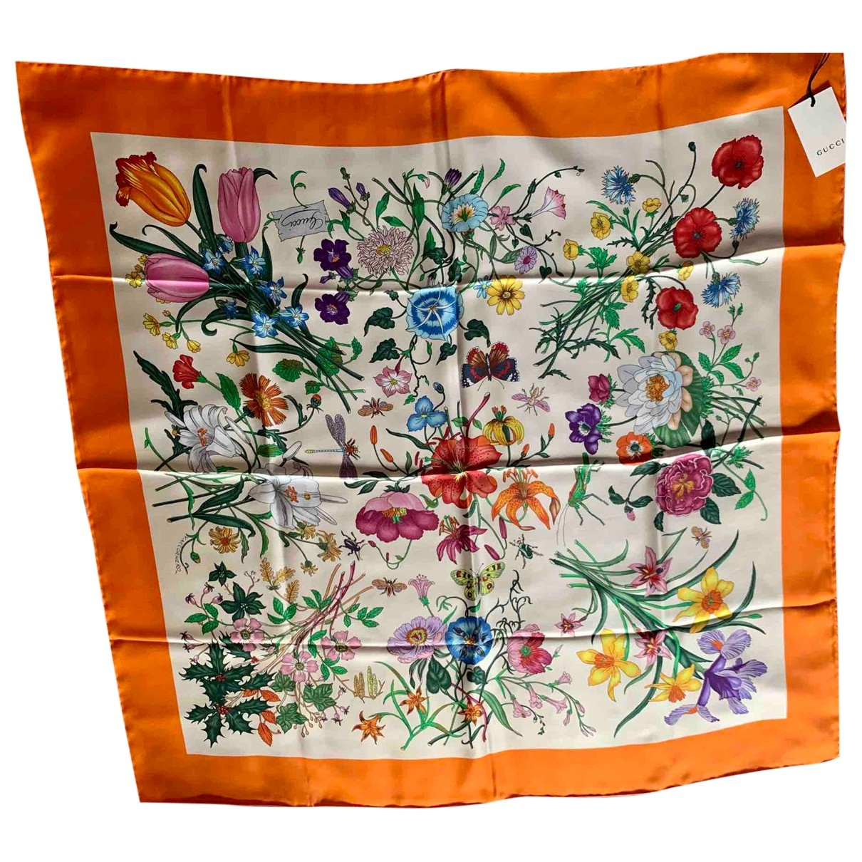 Gucci \N Orange Silk Silk handkerchief for Women \N