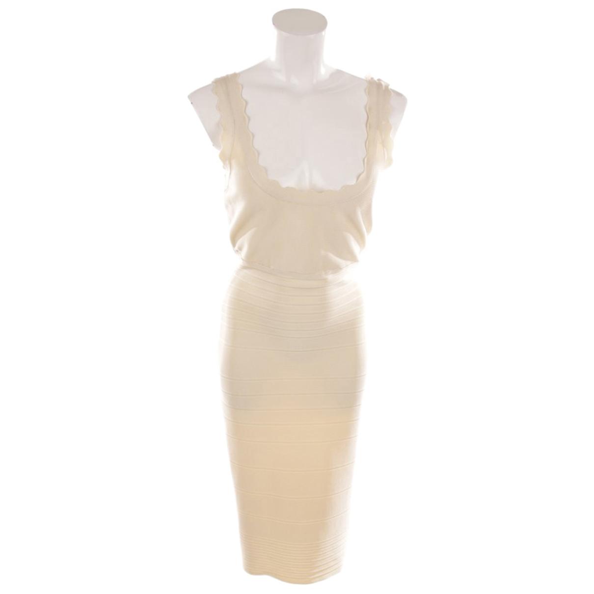 Herve Leger - Robe   pour femme en coton - beige