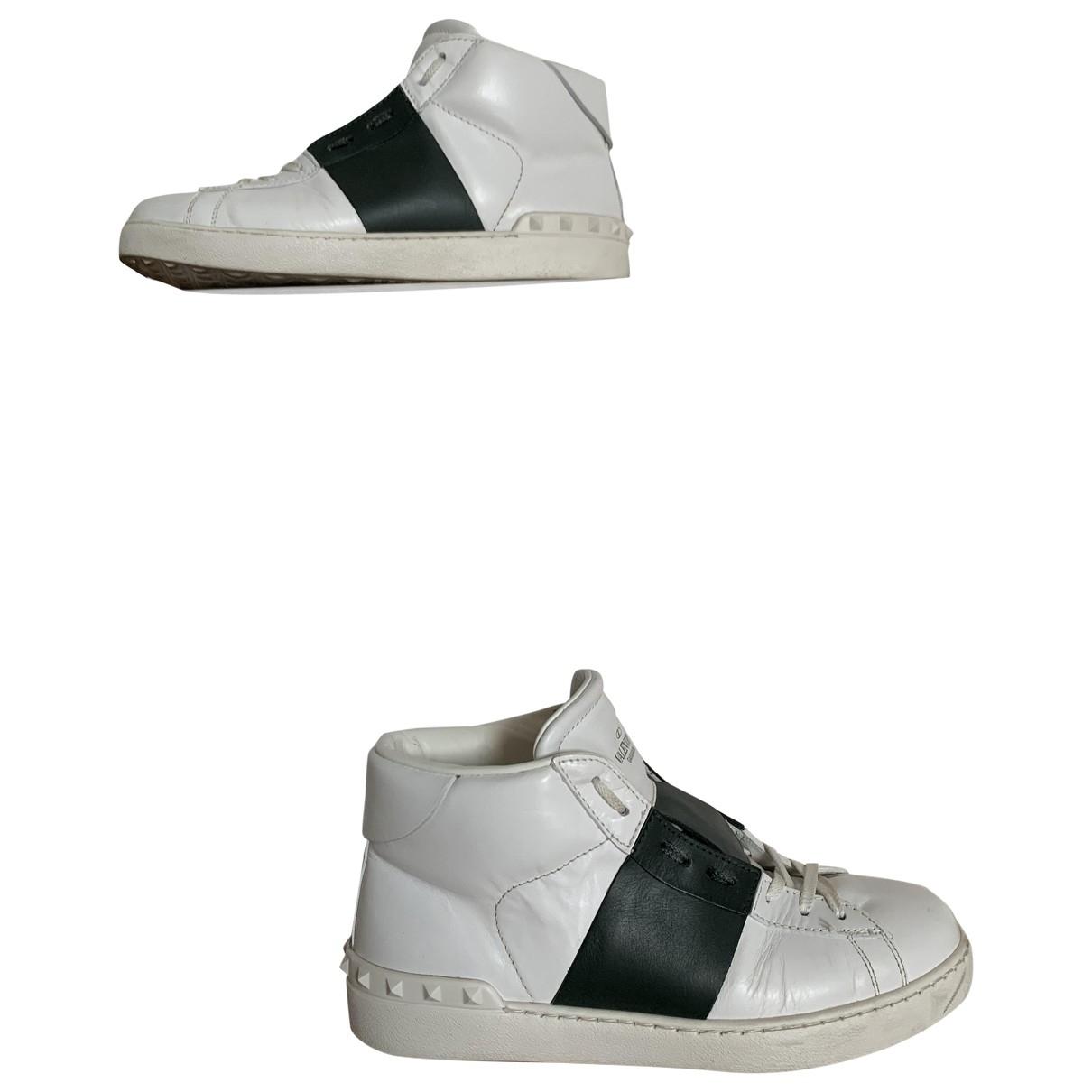 Valentino Garavani \N Stiefel in  Weiss Leder