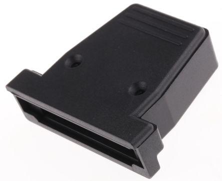 RS PRO PET D-sub Connector Backshell, 25 Way, Black
