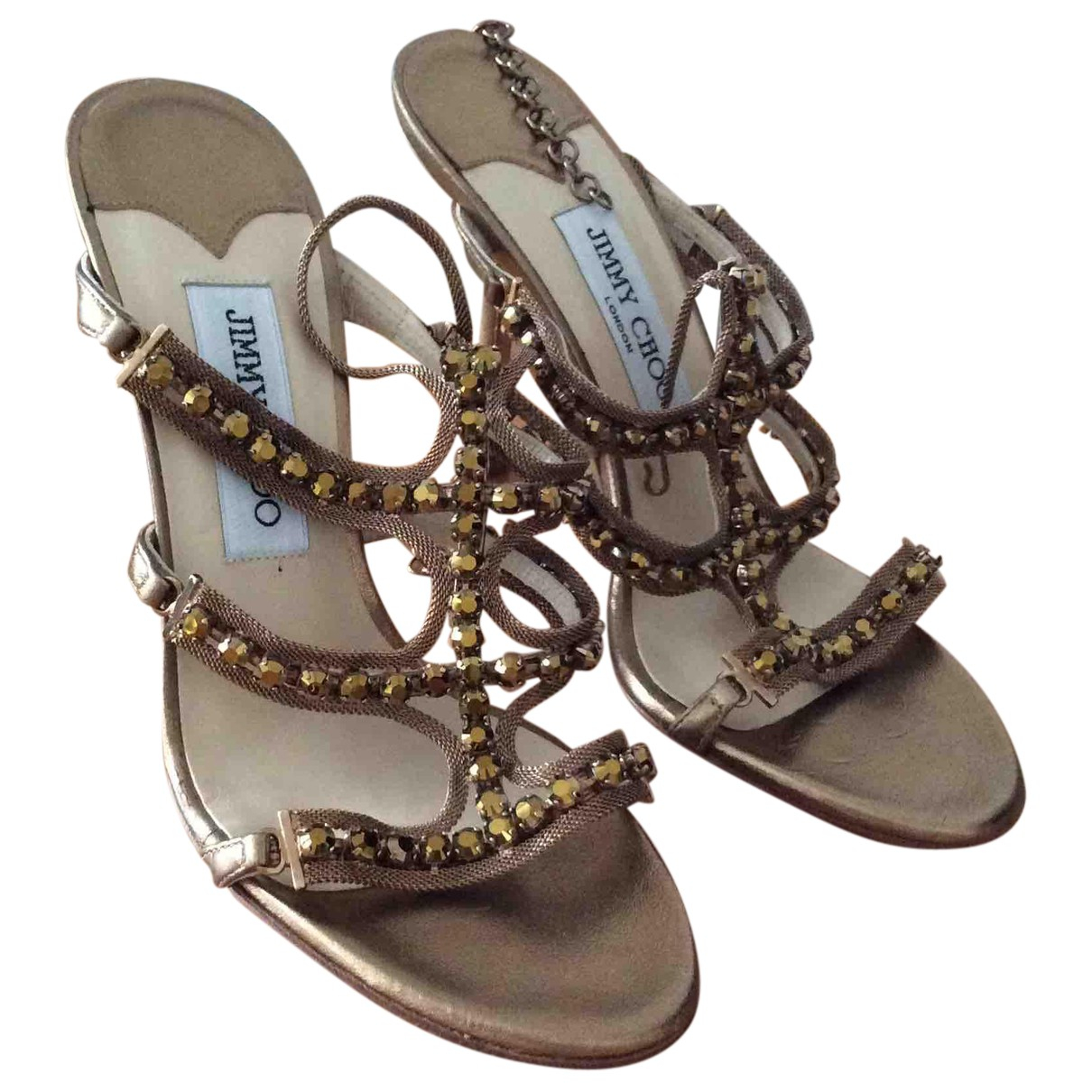 Jimmy Choo N Leather Sandals for Women 37.5 EU