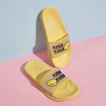 Mango Print Wide Fit Sliders