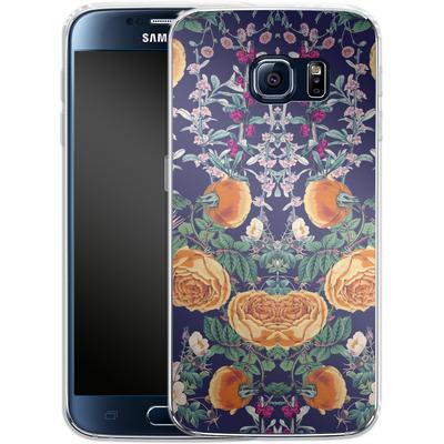 Samsung Galaxy S6 Silikon Handyhuelle - Midnight Spring von Zala Farah
