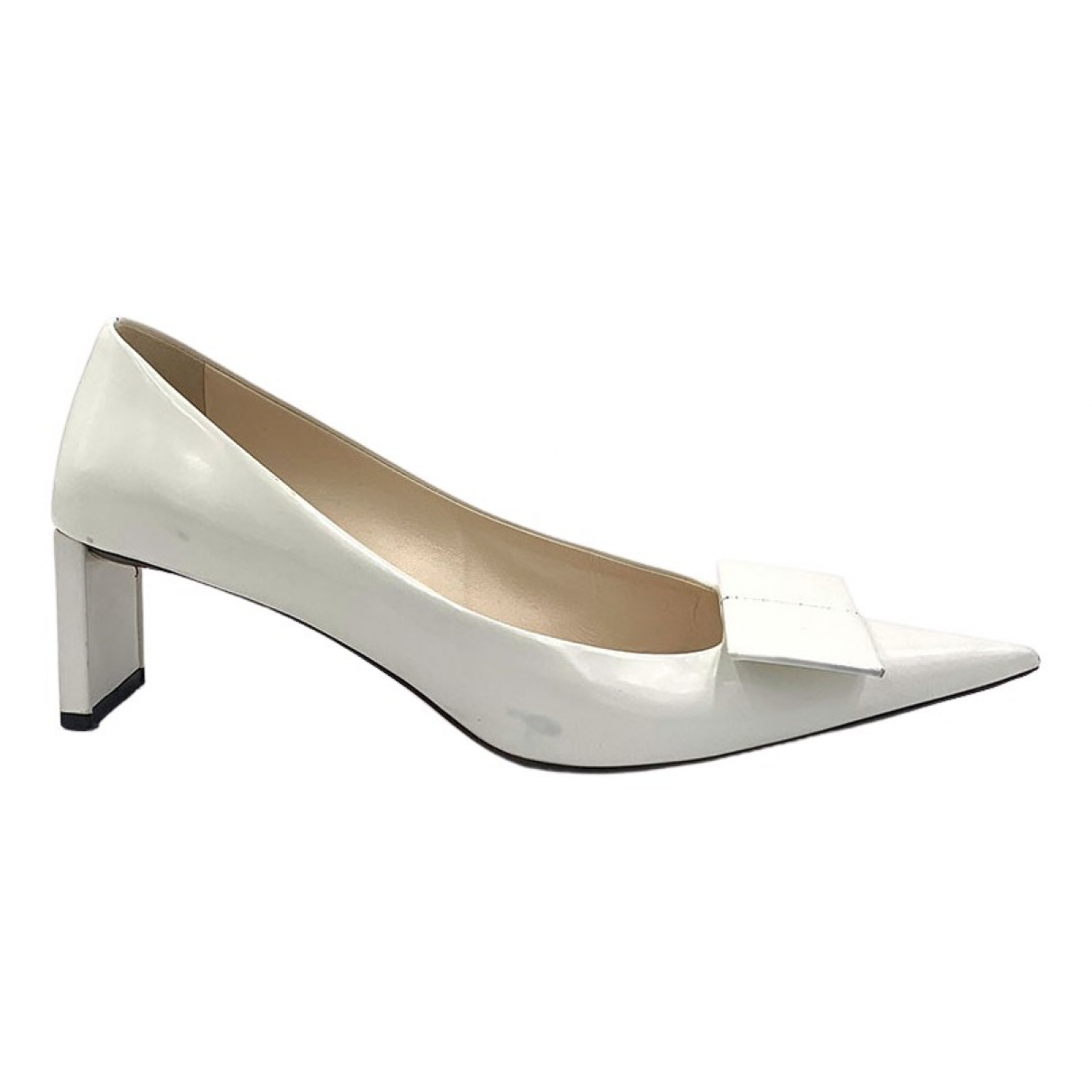 Louis Vuitton N White Leather Heels for Women 38.5 EU