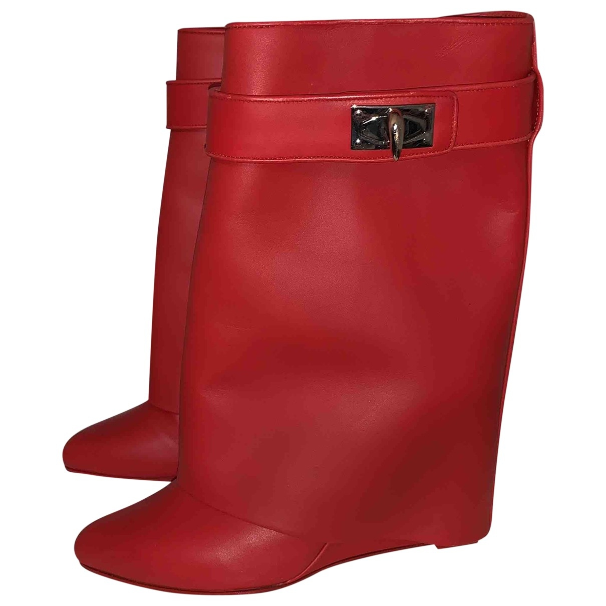 Givenchy - Boots Shark pour femme en cuir - rouge