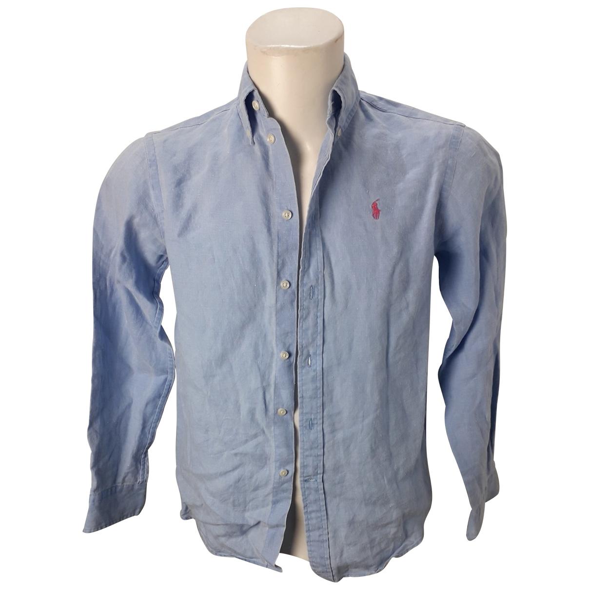 Ralph Lauren \N Hemden in  Blau Leinen