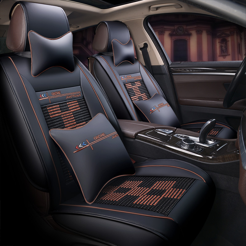 Excellent Leather Fabric Square Weave Universal Car Seat Covers