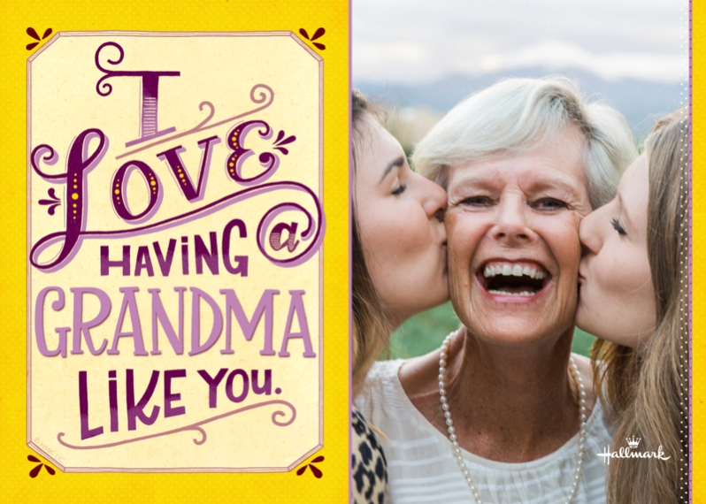 Mother's Day Cards 5x7 Folded Cards, Premium Cardstock 120lb, Card & Stationery -A Grandma Like You