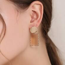 Geometrische Ohrringe mit Kristall Dekor