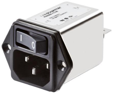 Schaffner , FN9264 10A 250 V ac 50 → 400Hz, Flange Mount EMI Filter, Tab