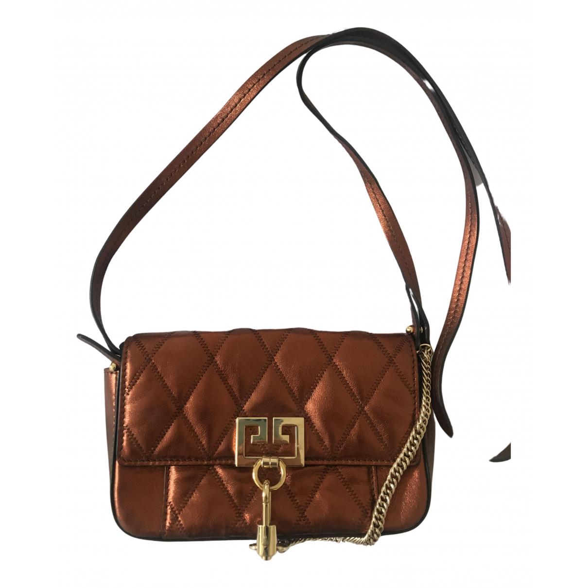 Givenchy Pocket Mini Handtasche in  Orange Leder