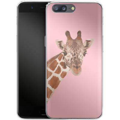 OnePlus 5 Silikon Handyhuelle - Giraffe Pride von Mukta Lata Barua