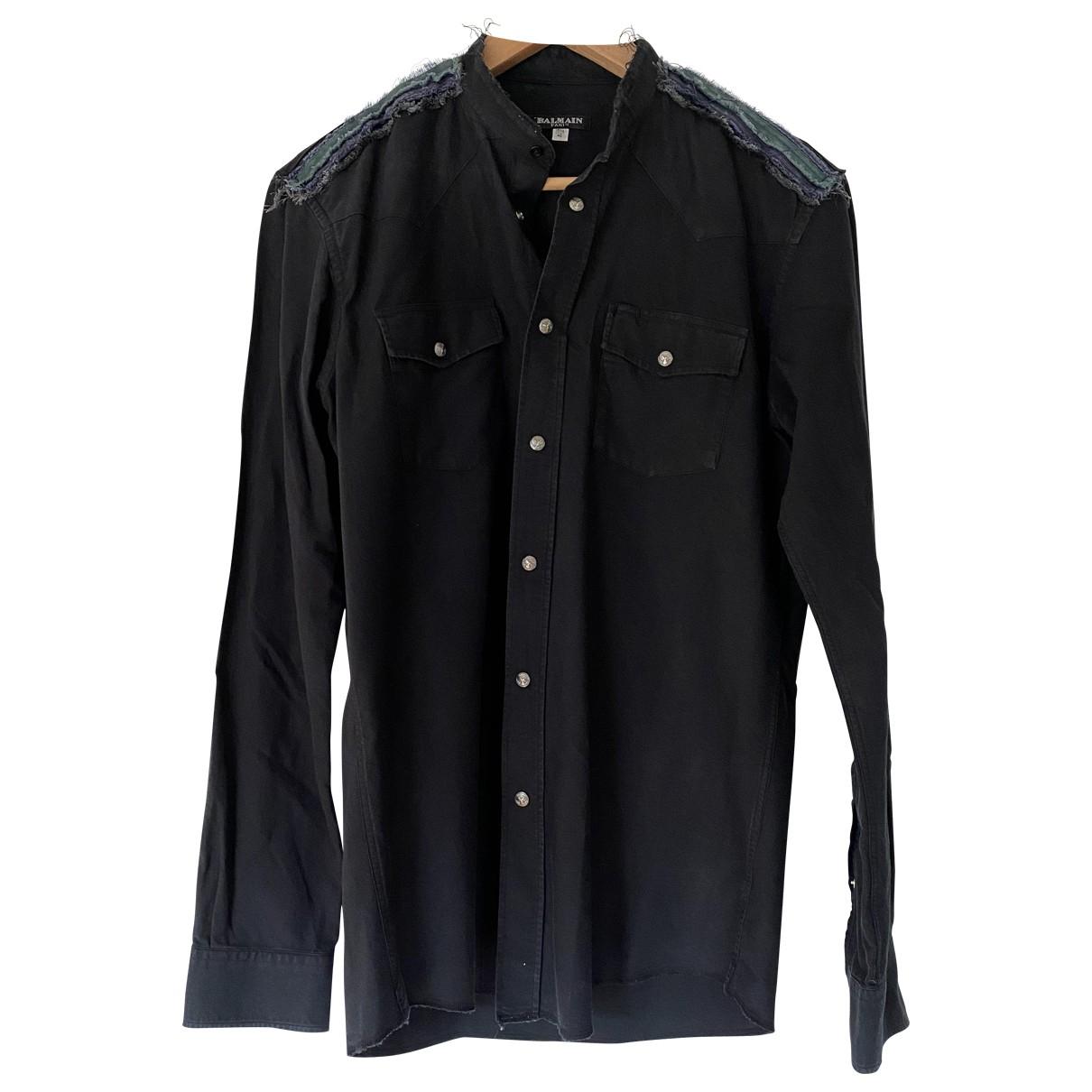 Balmain - Chemises   pour homme en coton - noir