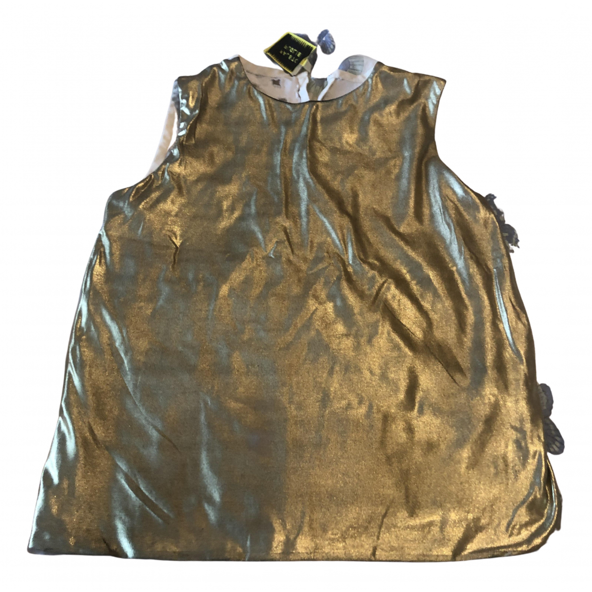 Fausto Puglisi \N Gold Silk  top for Women 40 IT