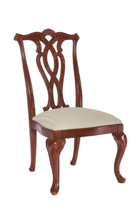 Cherry Grove Collection 792-654 PIERCED BACK SIDE CHAIR in Antique