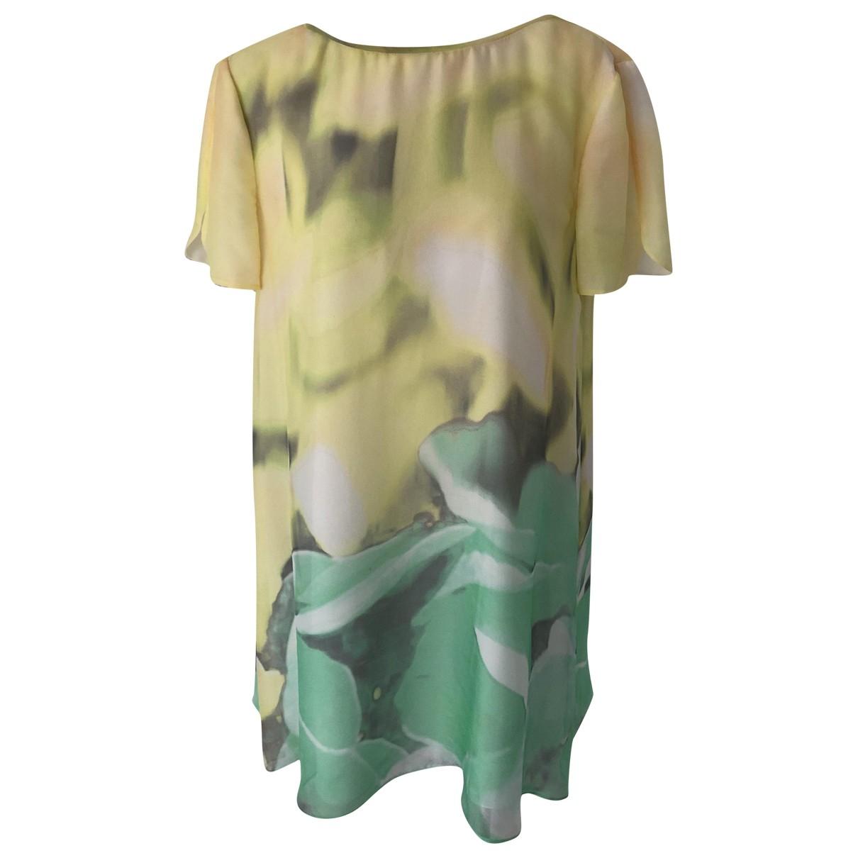 Emporio Armani - Top   pour femme en soie - jaune