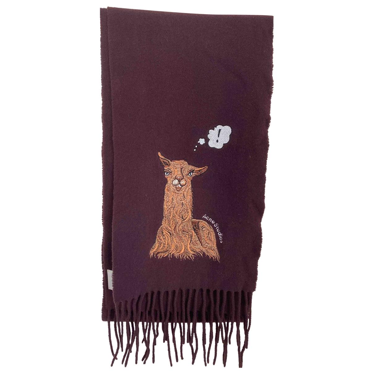 Acne Studios \N Burgundy Wool scarf for Women \N
