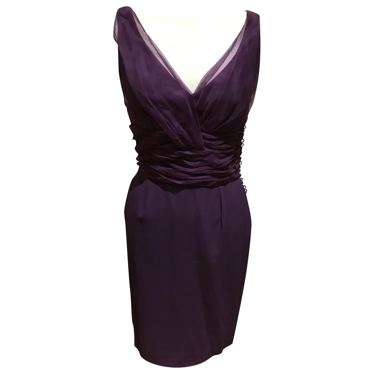 Dior \N Kleid in  Lila Seide