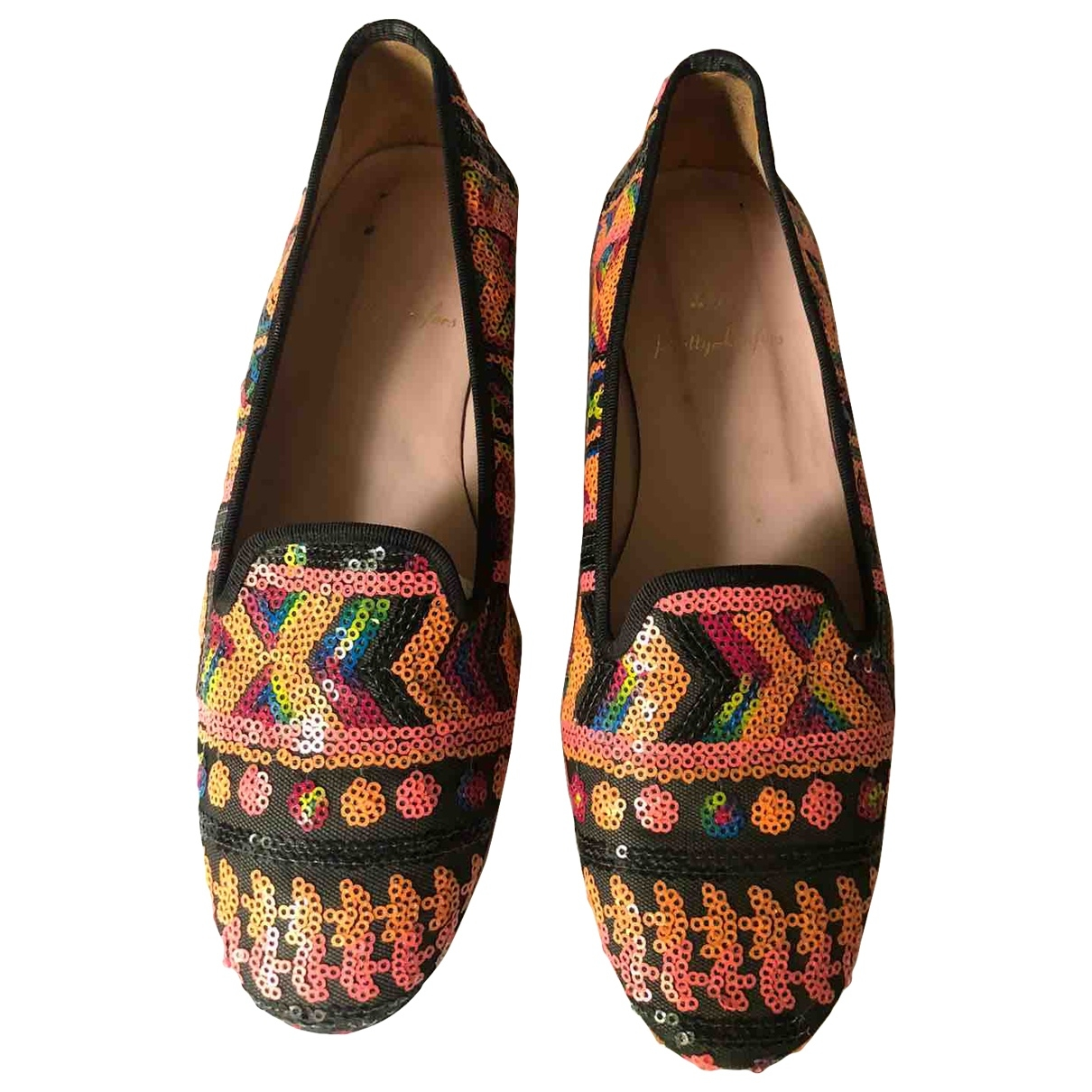 Pretty Ballerinas \N Multicolour Glitter Flats for Women 37 EU