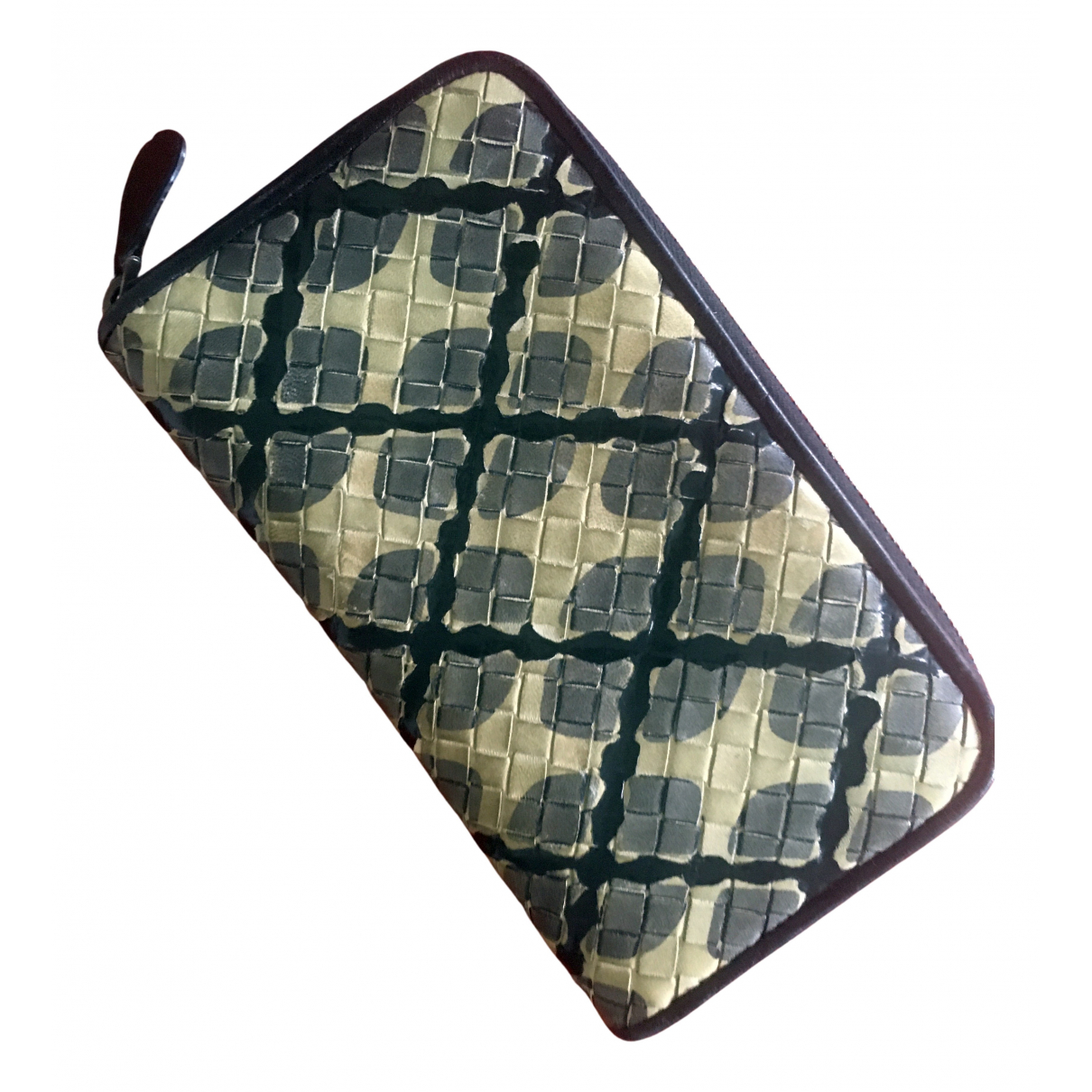 Bottega Veneta Intrecciato Green Leather wallet for Women N