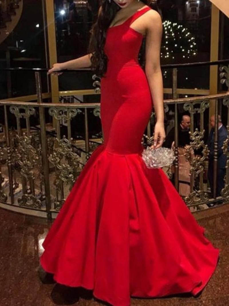 Ericdress Trumpet/Mermaid Floor-Length Sleeveless Straps Evening Dress 2020