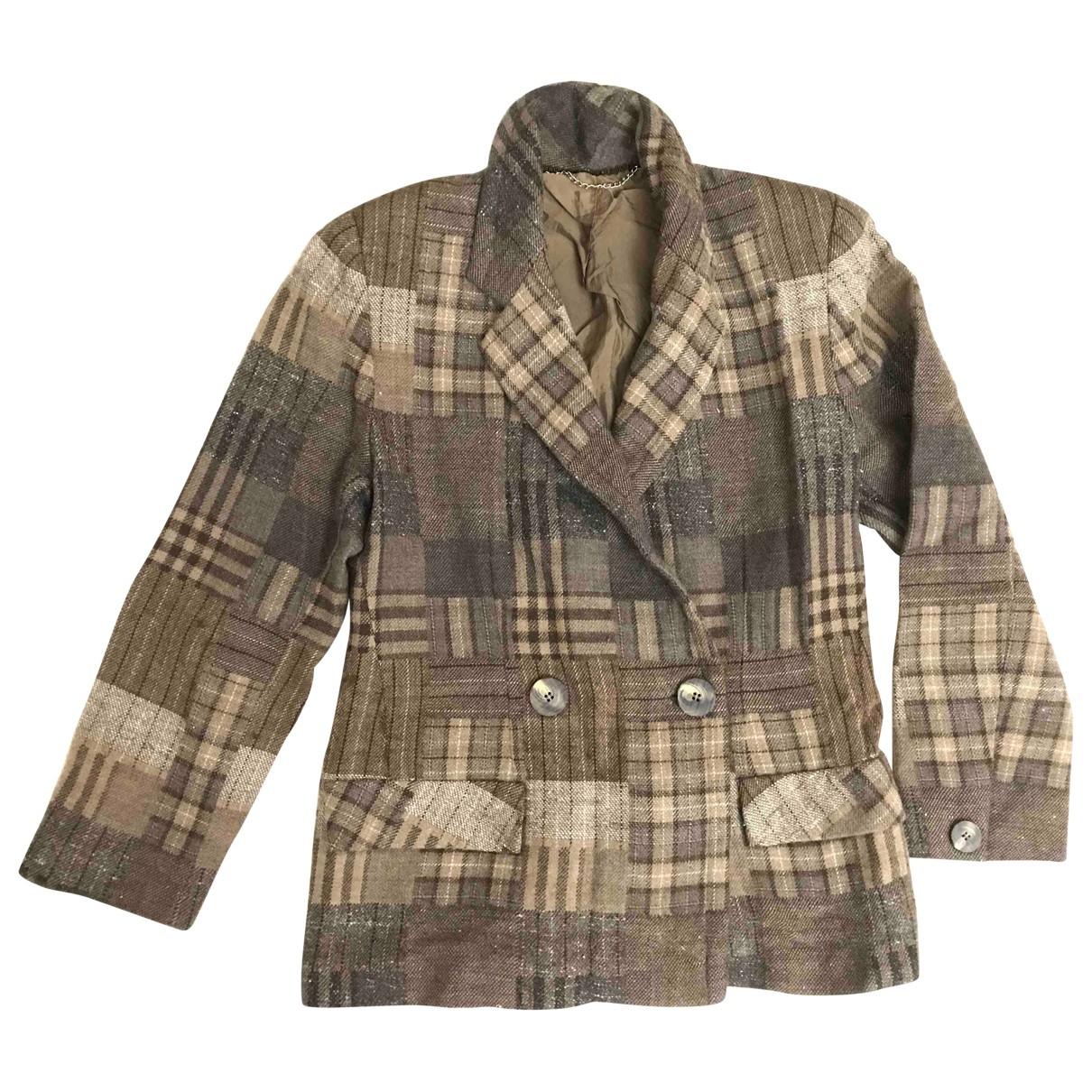 Pierre Cardin \N Jacke in  Khaki Wolle
