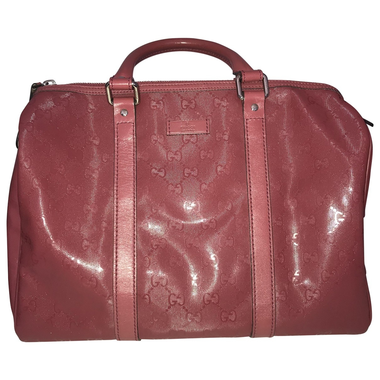 Gucci Boston Handtasche in  Rosa Leder