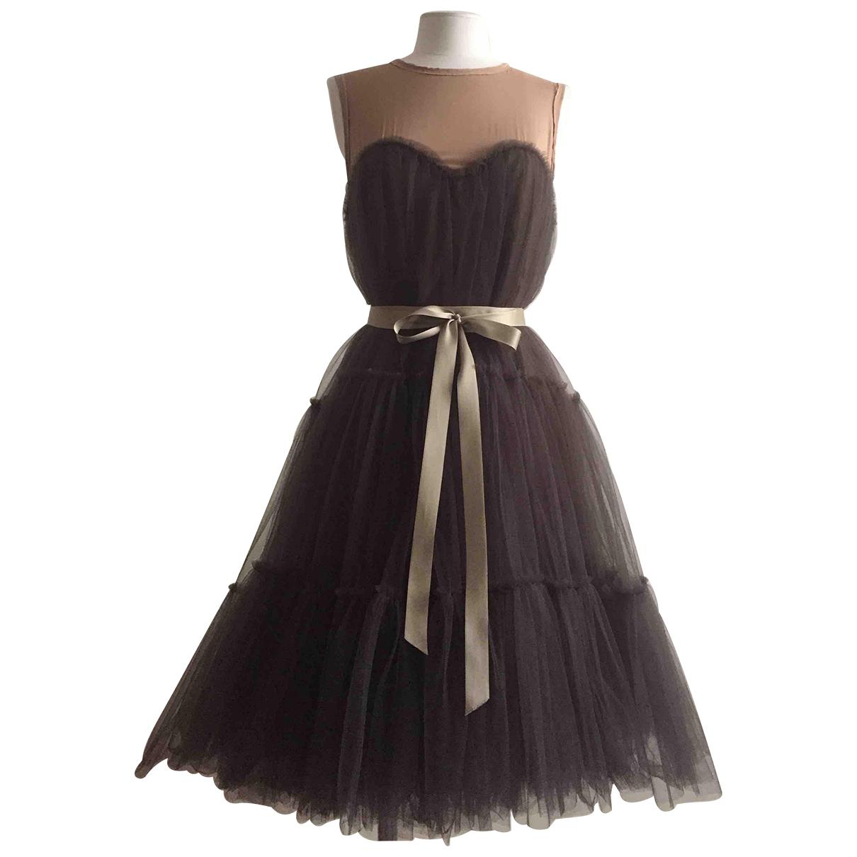 Lanvin For H&m \N Kleid in  Anthrazit Seide