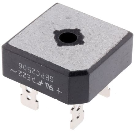 ON Semiconductor GBPC2506, Bridge Rectifier, 25A 600V, 4-Pin GBPC (2)
