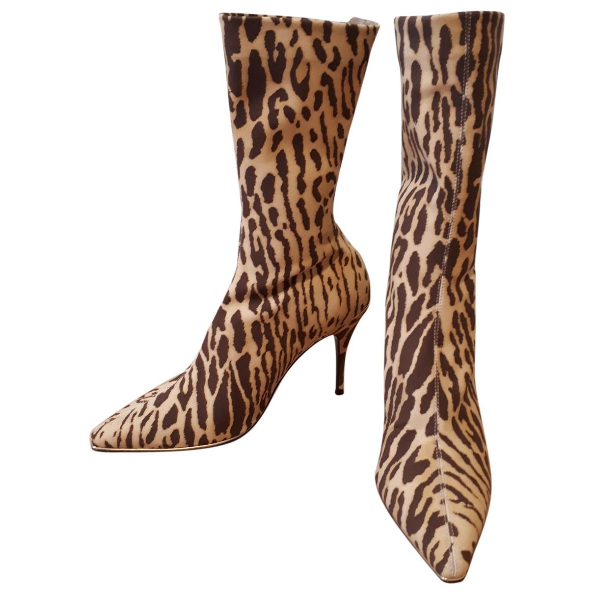 Zimmermann - Boots   pour femme en toile - beige