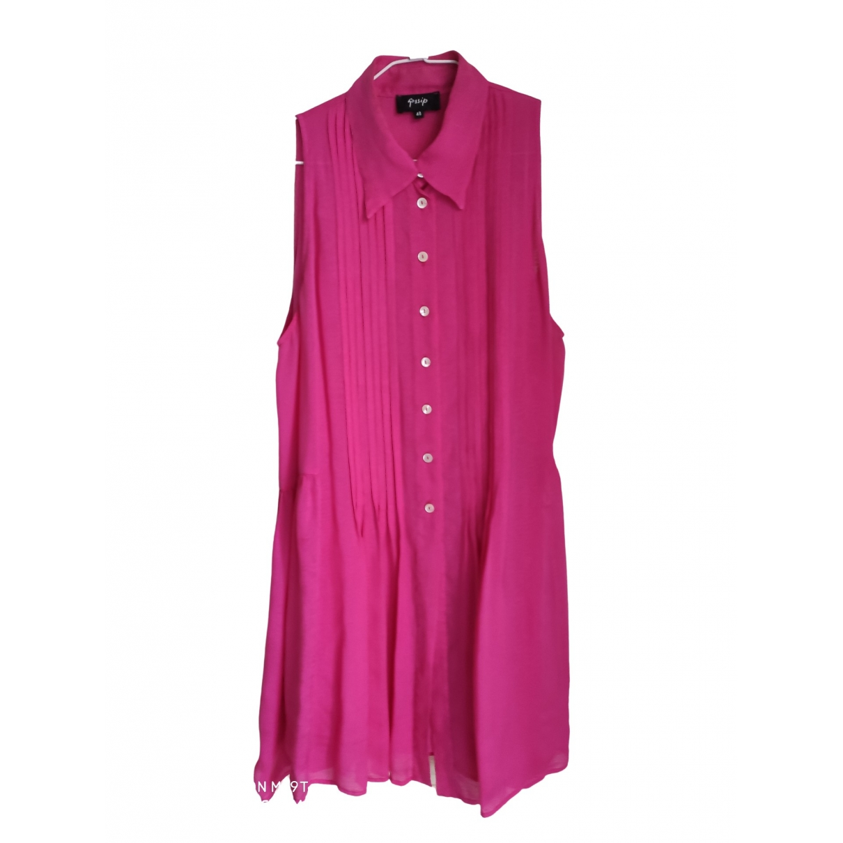 Non Signé / Unsigned \N Pink Silk  top for Women 48 IT