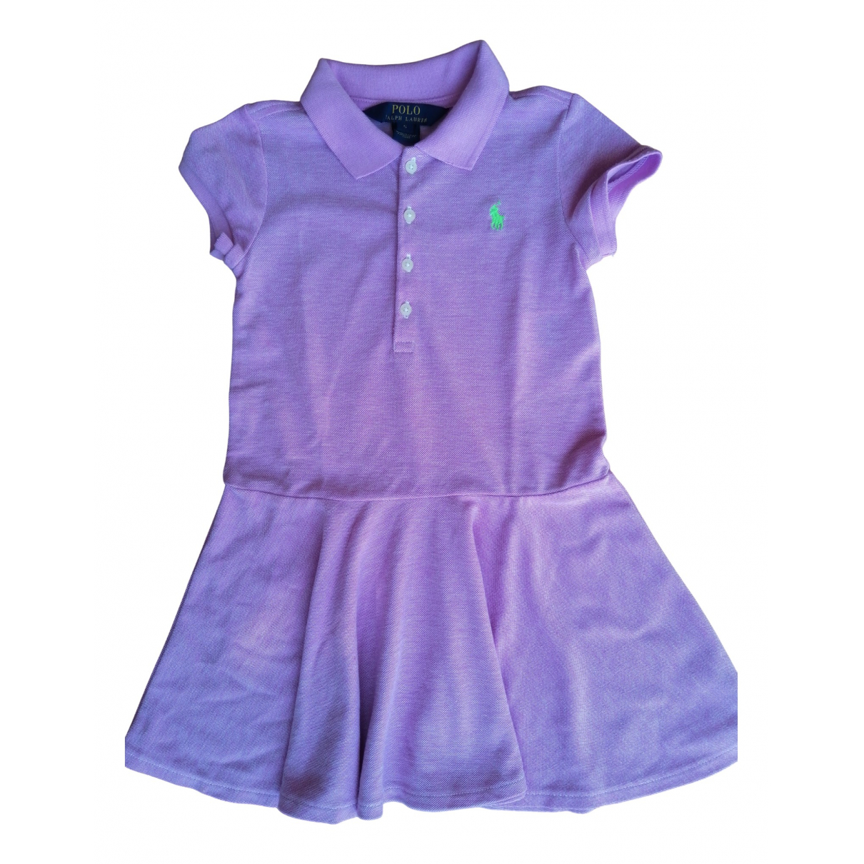 Polo Ralph Lauren N Purple Cotton dress for Kids 5 years - up to 108cm FR