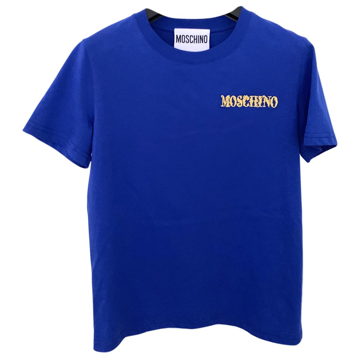 Moschino - Top   pour femme en coton - bleu