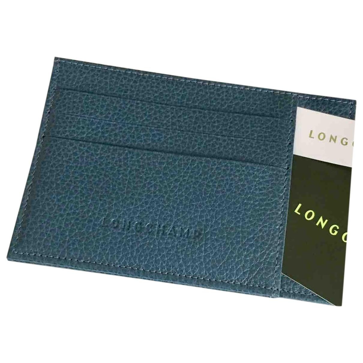 Longchamp - Petite maroquinerie   pour homme en cuir - bleu