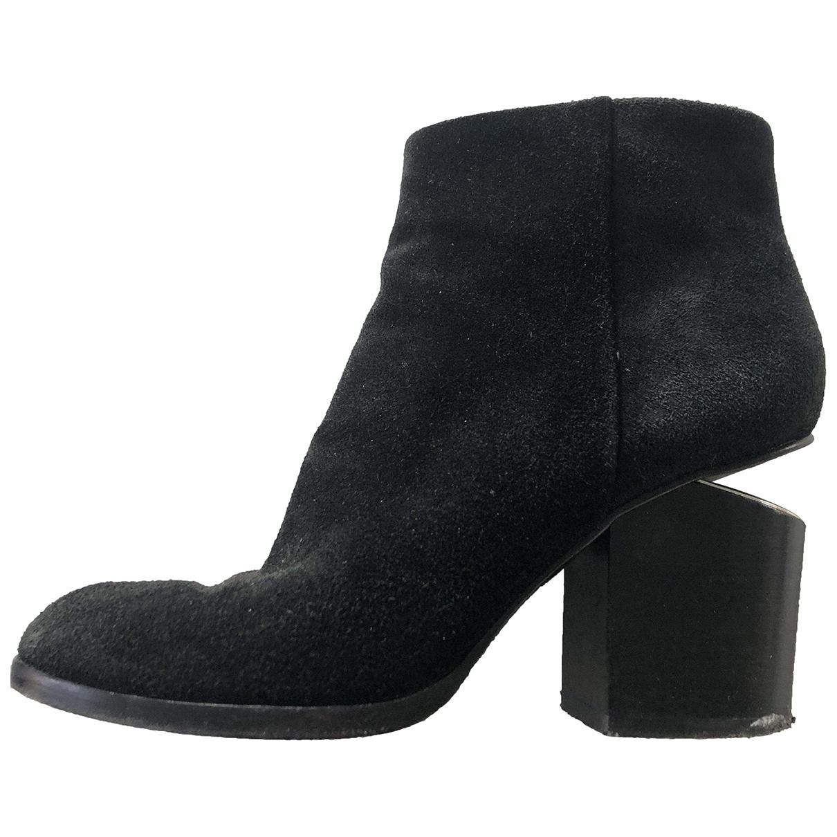 Alexander Wang Kori Black Suede Ankle boots for Women 38.5 EU