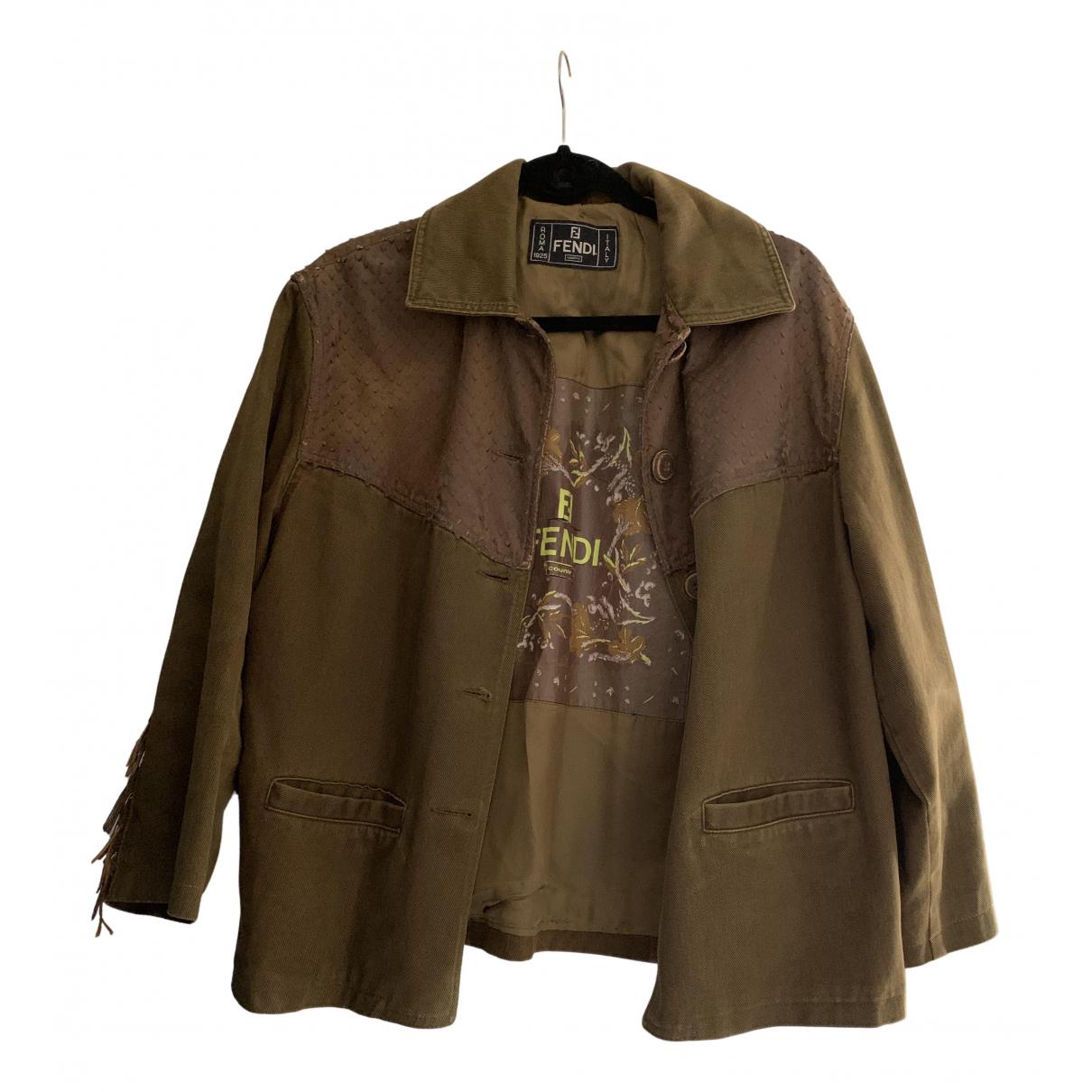Fendi N Brown Denim - Jeans jacket for Women 40 IT