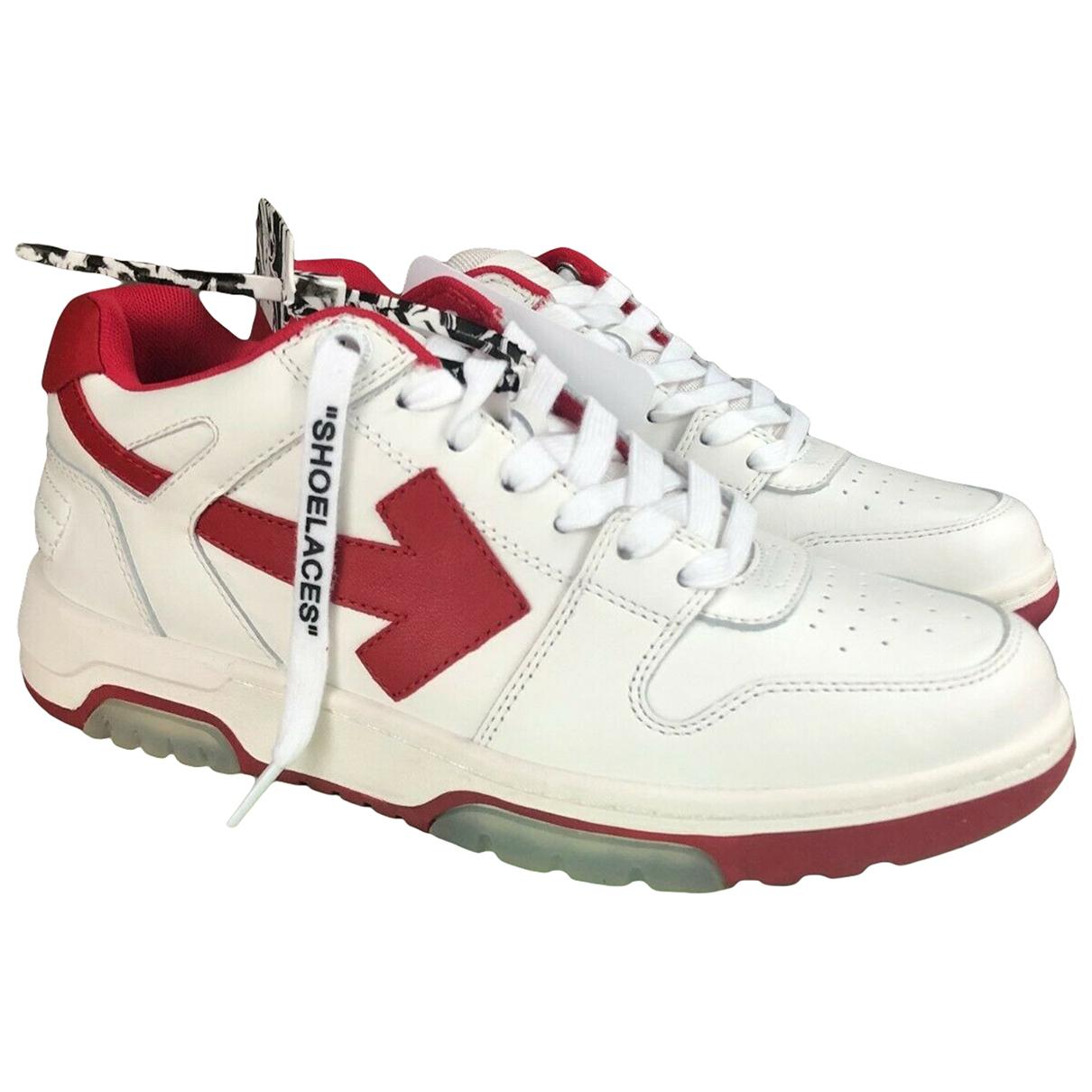 Off-white \N Sneakers in  Weiss Leder