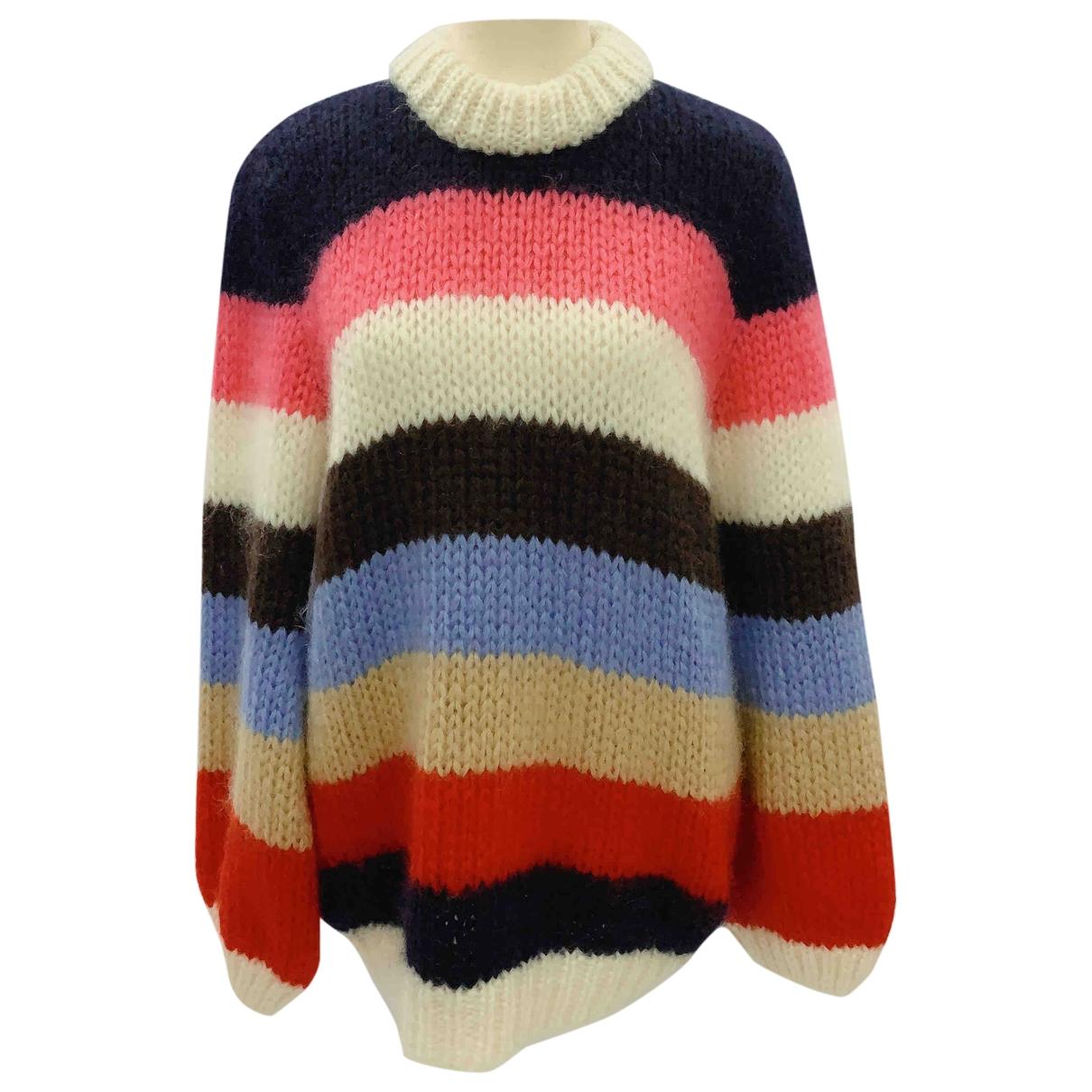 Ganni - Pull   pour femme en laine - multicolore