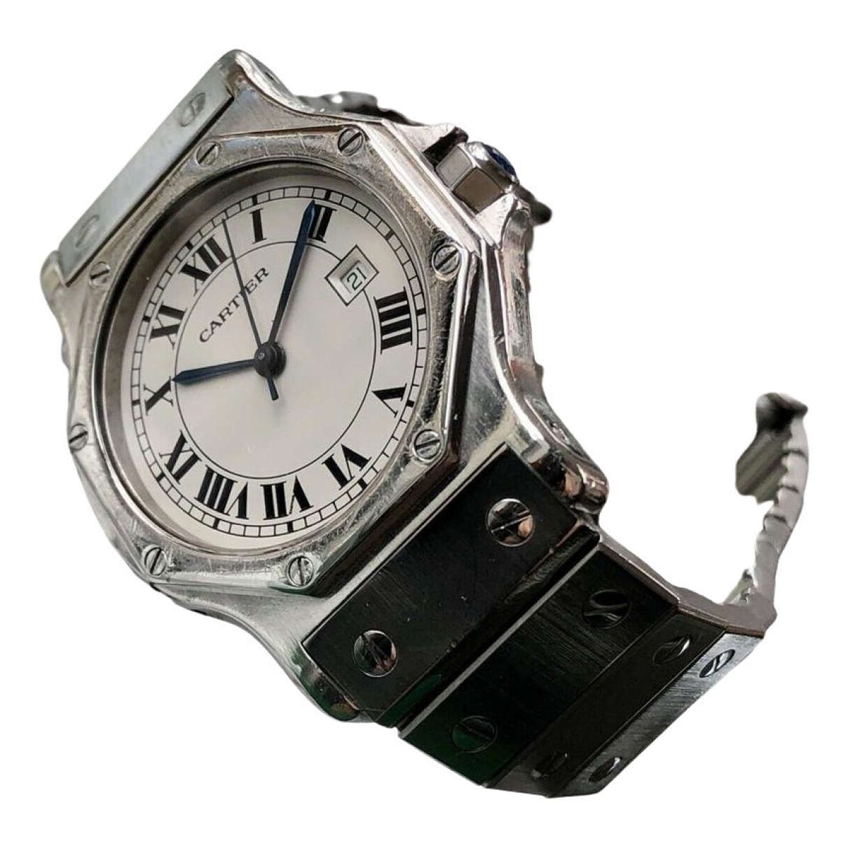 Cartier Santos Ronde Silver Steel watch for Women \N