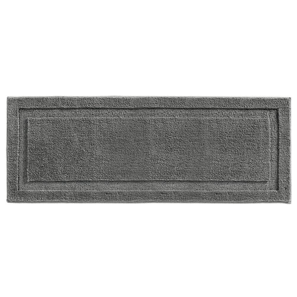 Microfiber Bath Mat, Non-Slip Bathroom Rug, in Charcoal Gray, 60
