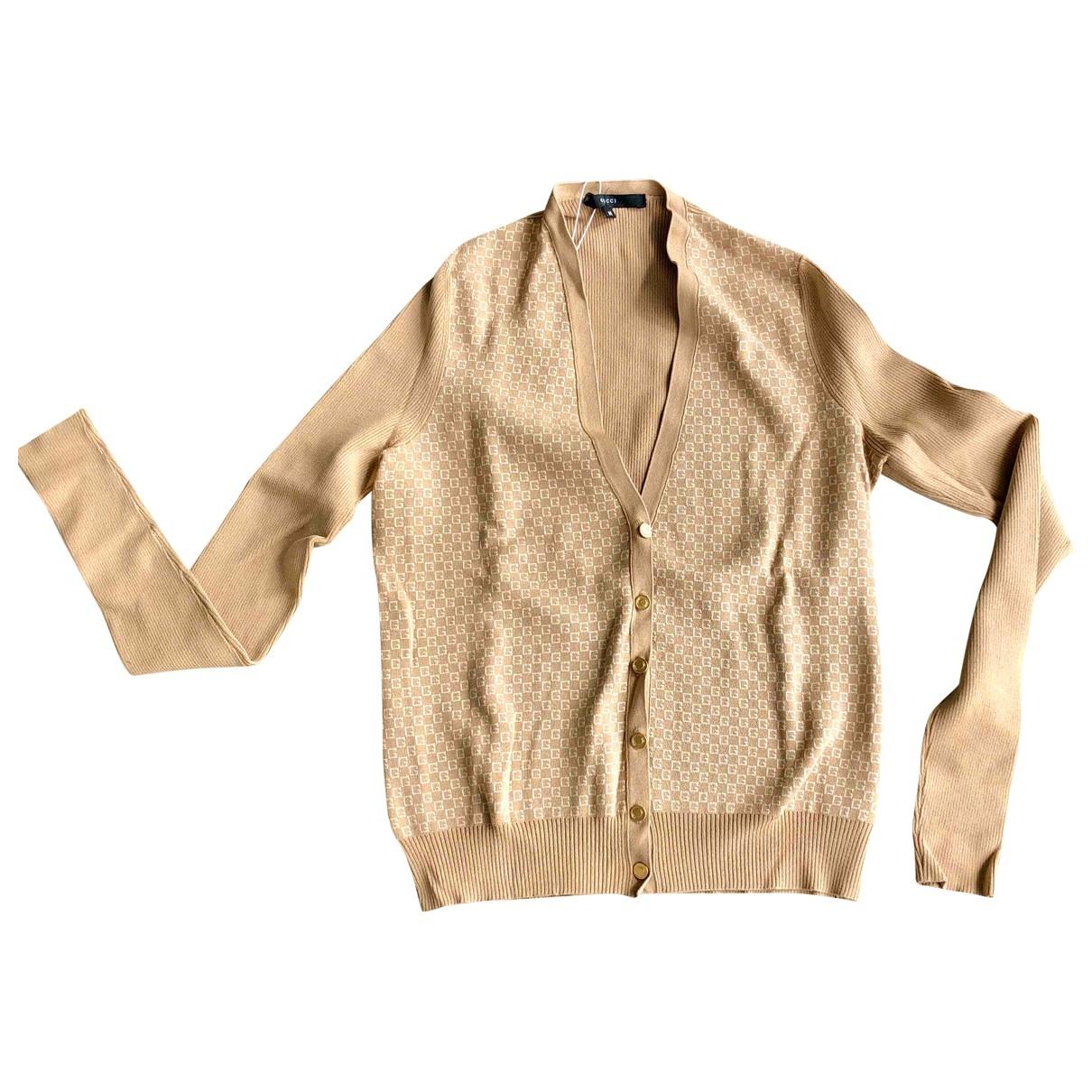 Gucci \N Pullover in  Beige Seide