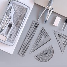 1 Box Multifunktions-Kompass- und Lineal-Set