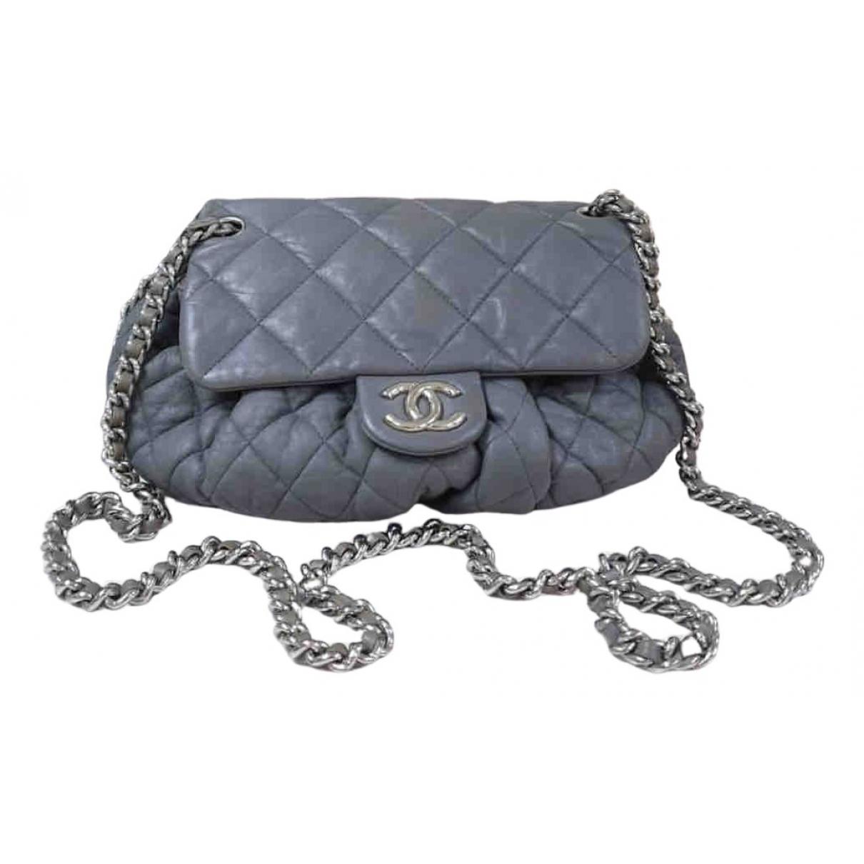 Chanel Chain Around Grey Leather handbag for Women \N