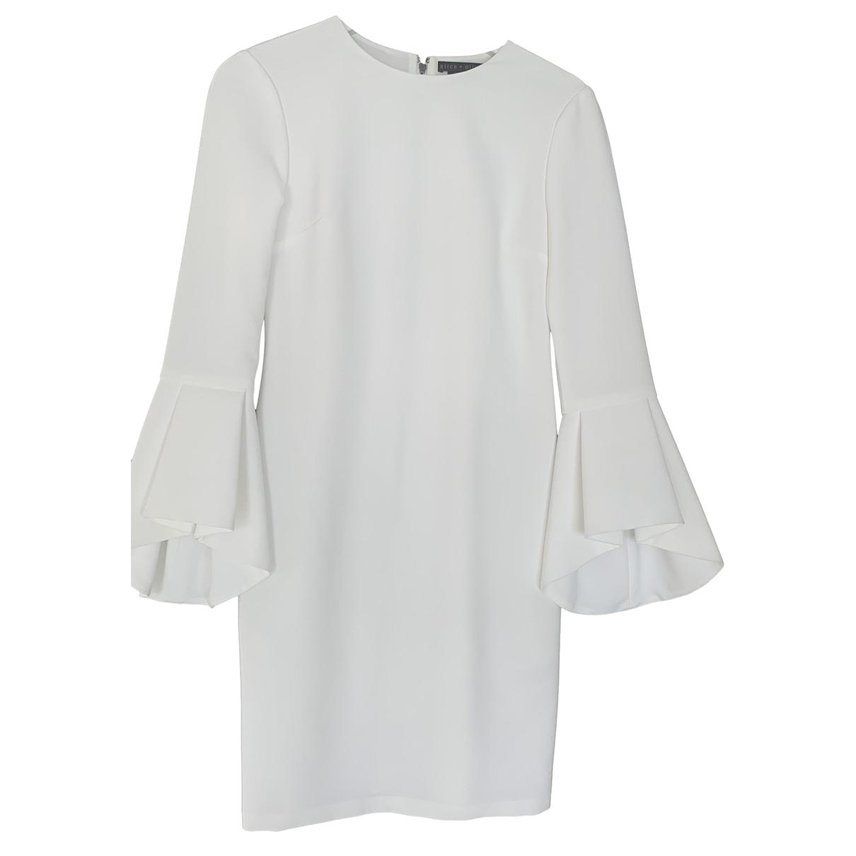 Alice & Olivia \N Kleid in  Weiss Polyester