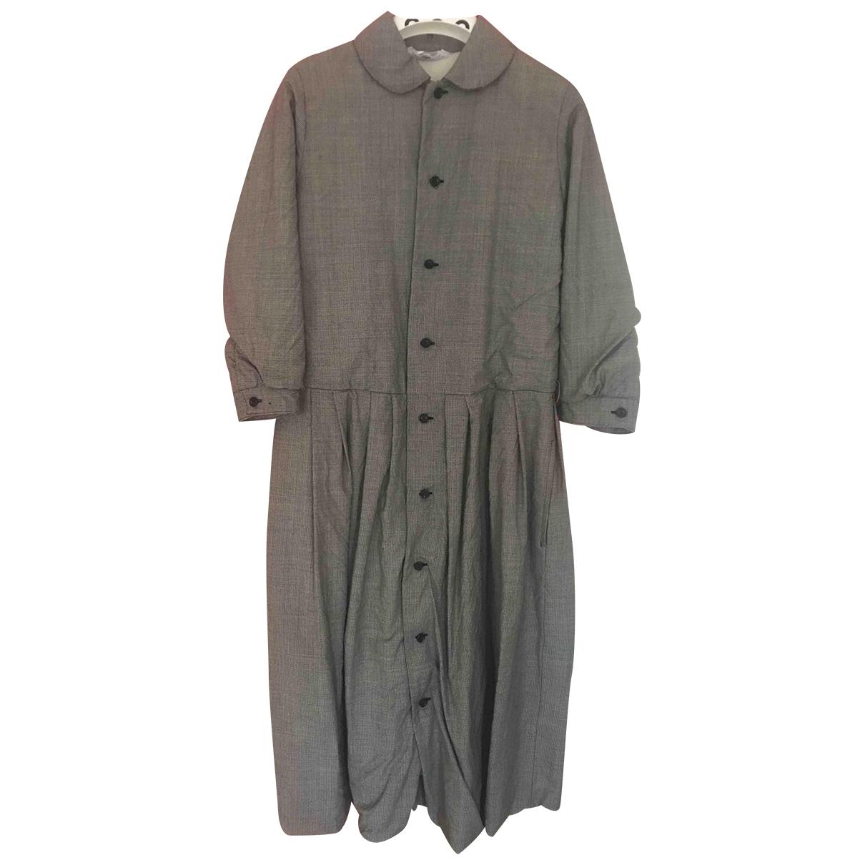 Comme Des Garcons \N Kleid in  Grau Wolle