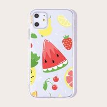 1pc Watermelon Print iPhone Case