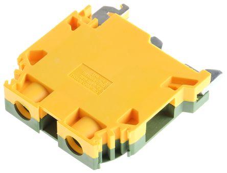Entrelec , SNA, 800 V ac Earth Terminal Block, Screw Termination, Green/Yellow