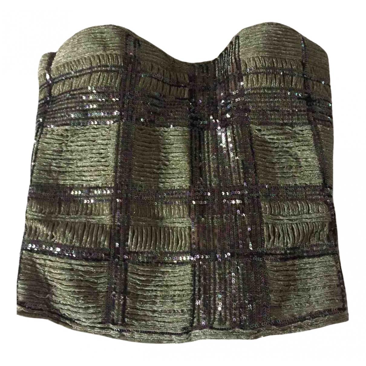 La Perla - Top   pour femme en a paillettes - metallise