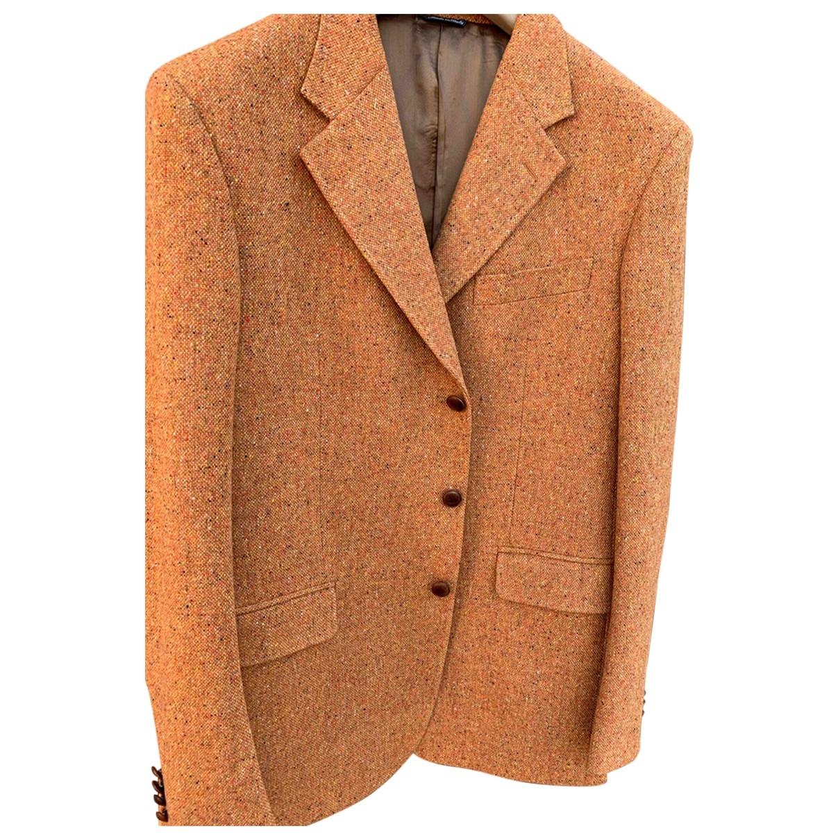 Tombolini - Vestes.Blousons   pour homme en laine - marron