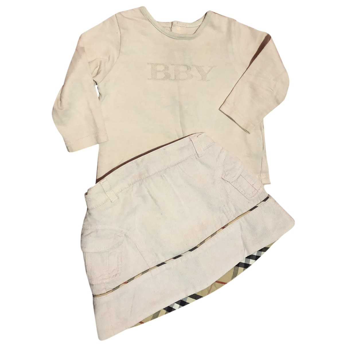 Burberry \N Pink Cotton Outfits for Kids 9 months - up to 71cm FR